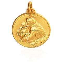 Święty Antoni. Złoty medalik. 18 mm. 3,9 g Gold Urbanowicz
