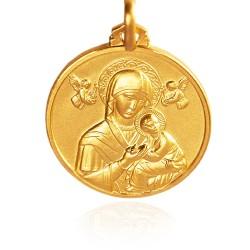 Matka Boża NIeustającej Pomocy. Patronka ludzi potrzebujących szczególnej opieki. średnica 25 mm, 8,8 g Gold Urbanowicz