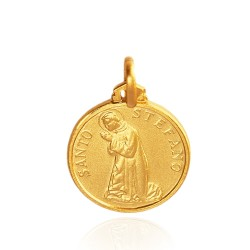 Święty Stefan. Medalik złoty 16 mm. 2,8 g Gold Urbanowicz