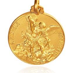 Święty Michał Archanioł. Złoty medalik . średnica 25 mm, 9.2 g Gold Urbanowicz