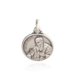 Świety Leopold Mandić. Spowiednik. Medalik srebrny. 14 mm. 2.0 g Gold Urbanowicz