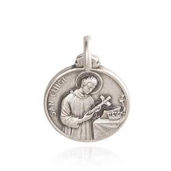święty Ludwik. medalik ze srebra oksydowanego. 2.5 g Gold Urbanowicz