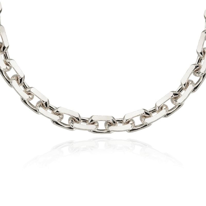 bc6d09f8fe6e2f Gruby srebrny łańcuch. Idealny dla mężczyzny. wspaniale prezentuje ...