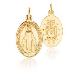 Cudowny Medalik z napisami w języku Słowackim. Złoty medalik 3.4 g