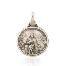 Święty Peregryn. Patron chorych na raka. Medalik srebrny średnica 14 mm, 2 g Gold Urbanowicz