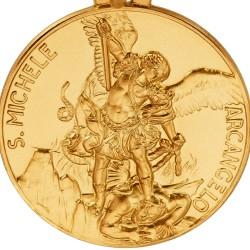 Święty Michał Archanioł. Złoty medalik . średnica 30 mm, 13,45 g Gold Urbanowicz