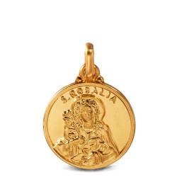 Złoty medalik święta Rozalia. 14mm, Gold Urbanowicz