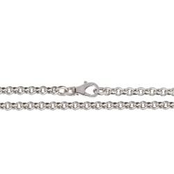 Srebrny łańcuszek rodowany. Długość 50 cm. Gold Urbanowicz