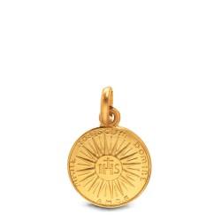 Złoty medalik ze znakiem IHS. 12 mm Gold Urbanowicz