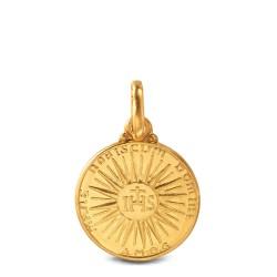 Złoty medalik ze znakiem IHS. 14 mm Gold Urbanowicz