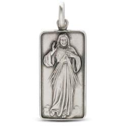 Jezus Miłosierny medalik srebrny, Gold Urbanowicz 6.8 g