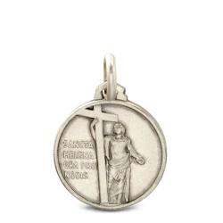 Święta Helena.  Srebrny medalik.  16 mm,   2.5 g