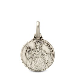 Święta Barbara. Srebrny medalik oksydowany. Medalik św Barbary. 1.9 g Gold Urbanowicz