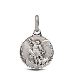 Michał Archanioł. 2.0 g 14 mm Medalik ze srebra oksydowanego. Gold Urbanowicz.