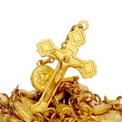 Złoty różaniec. Różaniec wykonany ze złota 14-karatowego. 40 g Gold Urbanowicz