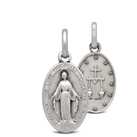 Cudowny Medalik ze srebra oksydowanego. 1.9g