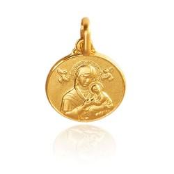 Matka Boża NIeustającej Pomocy 1.55 g 12mm Złoty medalik. Gold Urbanowicz
