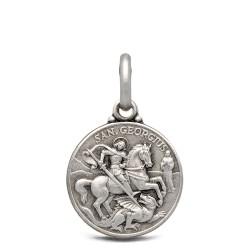 Święty Jerzy. Patron artystów, żołnierzy, wędrowców. Srebrny medalik. 14 mm 2.0g Gold Urbanowicz