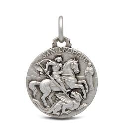 Święty Jerzy. Patron artystów, żołnierzy, wędrowców. Srebrny medalik. 18 mm 3.2 g Gold Urbanowicz