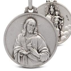 Matka Boska Szkaplerzna. Szkaplerz Karmelitański. 8.5 g 25mm, Medalion ze srebra oksydowanego. Gold Urbanowicz