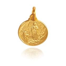 Matka Boska z Lourdes. 3,6 g, 18mm, Złoty medalik Gold Urbanowicz