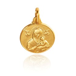 Matka Boża Nieustającej Pomocy 1.1 g 10mm Złoty medalik. Gold Urbanowicz..