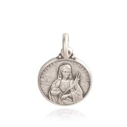 Święta Łucja. 0,9 g Mały medalik srebrny. Gold Urbanowicz- medalik na bierzmowanie