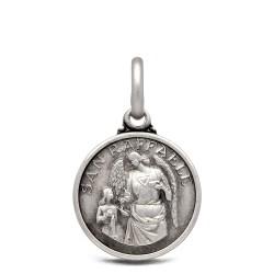 Św Rafał Archanioł. 2.1 g 14 mm Medalik ze srebra oksydowanego. Gold Urbanowicz silver medal shop online