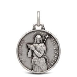 Św Jan Chrzciciel. Medalik ze srebra 18 mm, Medalik Jana Chrzciciela. Gold Urbanowicz shop online