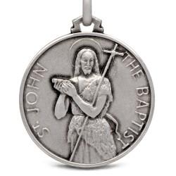 Św Jan Chrzciciel. Duży Medalion ze srebra 25 mm, Medalik Jana Chrzciciela. Gold Urbanowicz shop online