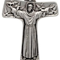 Srebrny krzyż franciszkański. krzyżyk franciszkanów. 8,05g Gold Urbanowicz