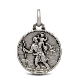 Święty Krzysztof. Patron Kierowców. Medalik srebrny. 18 mm, Gold Urbanowicz
