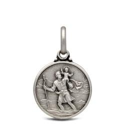 Święty Krzysztof. Patron Kierowców. Medalik srebrny. 14 mm, Gold Urbanowicz