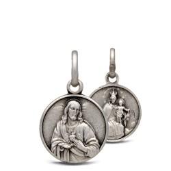 Matka Boska Szkaplerzna. Szkaplerz Karmelitański. 1.5 g Medalik ze srebra. Gold Urbanowicz