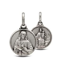 Matka Boska Szkaplerzna. Szkaplerz Karmelitański. 2.2 g Medalik ze srebra oksydowanego. Gold Urbanowicz