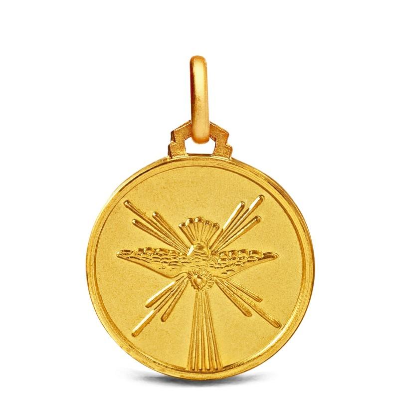 Duch Święty, 14mm, Złoty medalik na Bierzmowanie Gold Urbanowicz