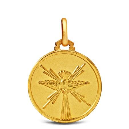 Złoty medalik: Duch Święty 14mm, 2.2 g