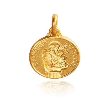 Święty Antoni. Maleńki Złoty medalik, 10 mm 1,1 g