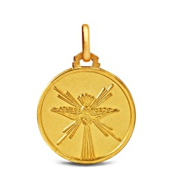 Duch Święty, 10mm, Malutki Złoty medalik na Bierzmowanie