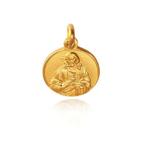 Najświętsze Serce Jezusa. Medalik złoty. 10 mm. 1,15 g