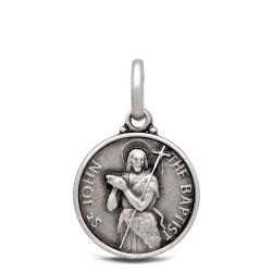Św Jan Chrzciciel. Srebrny medalik 10 mm, Medalik Jana Chrzciciela. Gold Urbanowicz shop online