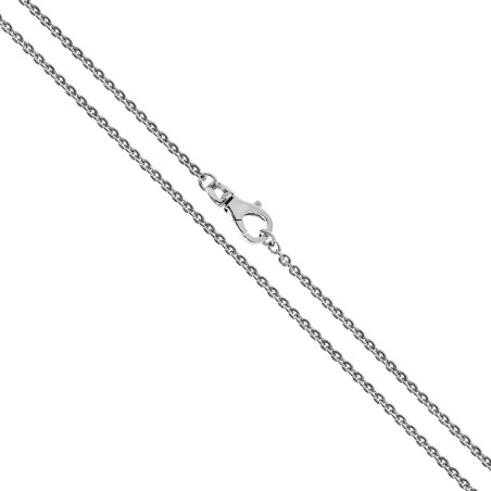 Rodowany łańcuszek srebrny. Długość 44 cm. 4.2g