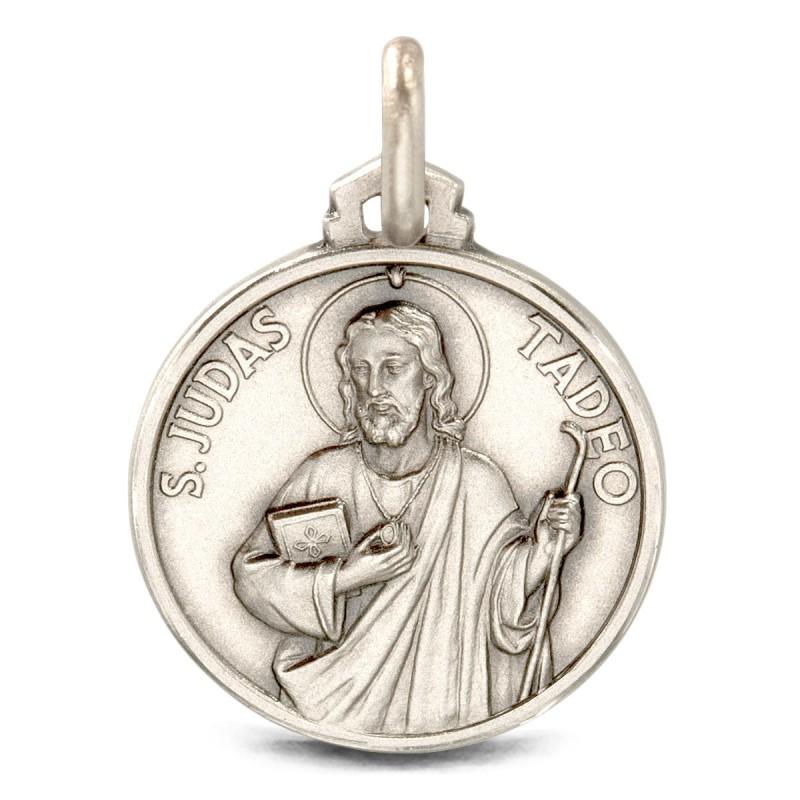 Święty Tadeusz Juda. Medalion ze srebra oksydowanego. 30 mm, Medalik Judy Tadeusza. Gold Urbanowicz