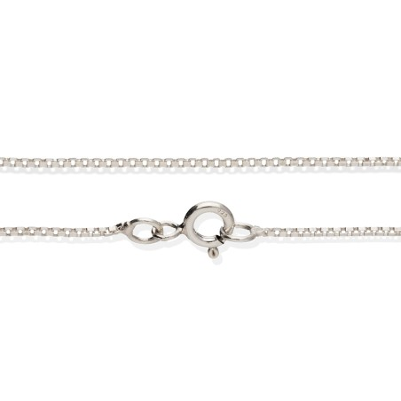 Srebrny łańcuszek, splot kostka, 45 cm
