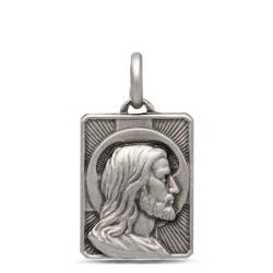 Gold Urbanowicz, Prostokątny Medalik z Jezusem, srebro 925
