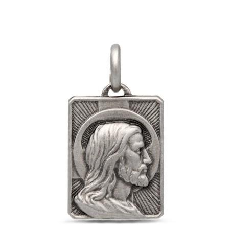Medalik srebrny z Jezusem. 2,85 g