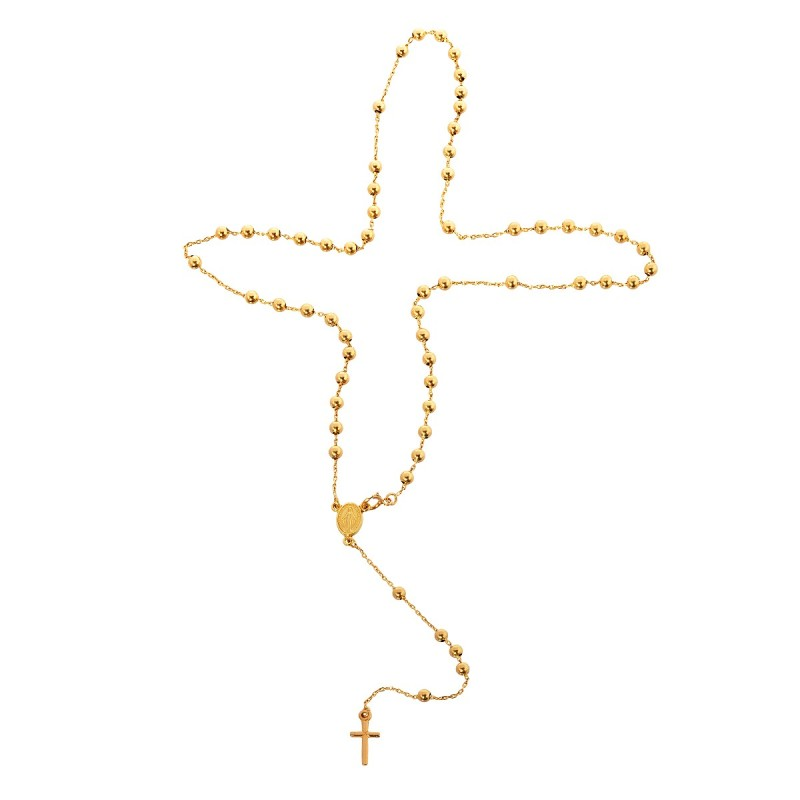 Złoty różaniec. Elegancki prezent. Różaniec ze złota 18-karatowego. Złoty różaniec jako naszyjnik. Gold Urbanowicz 5.65 g