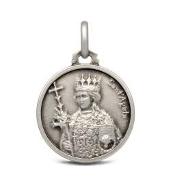 Święta Agata, medalik srebrny, 18mm, 3,15 g