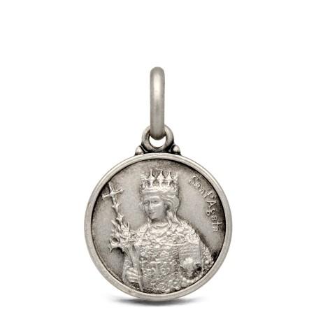 Medalik srebrny św Agaty, 14mm, 1,9 g