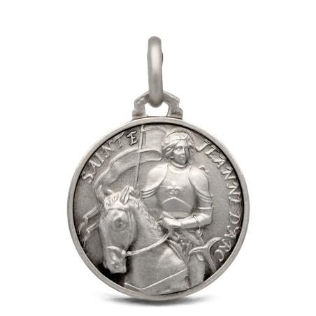 Medalik srebrny św Joanna d'Arc 18mm, 3,2 g